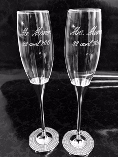 engraved glasses sirena gifts
